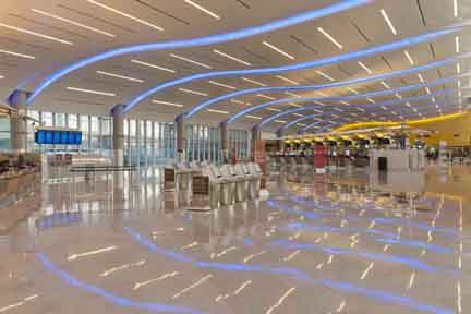 More than 14000 indoor and outdoor lighting luminaires from acuity brands inc are now illuminating the new maynard h jackson international terminal at